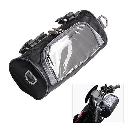 Bolsa de Almacenamiento para Motocicleta, Bolsa de Manillar para Motocicleta,contenedor de Almacenamiento con Pantalla táctil Transparente DE 5,5 ...