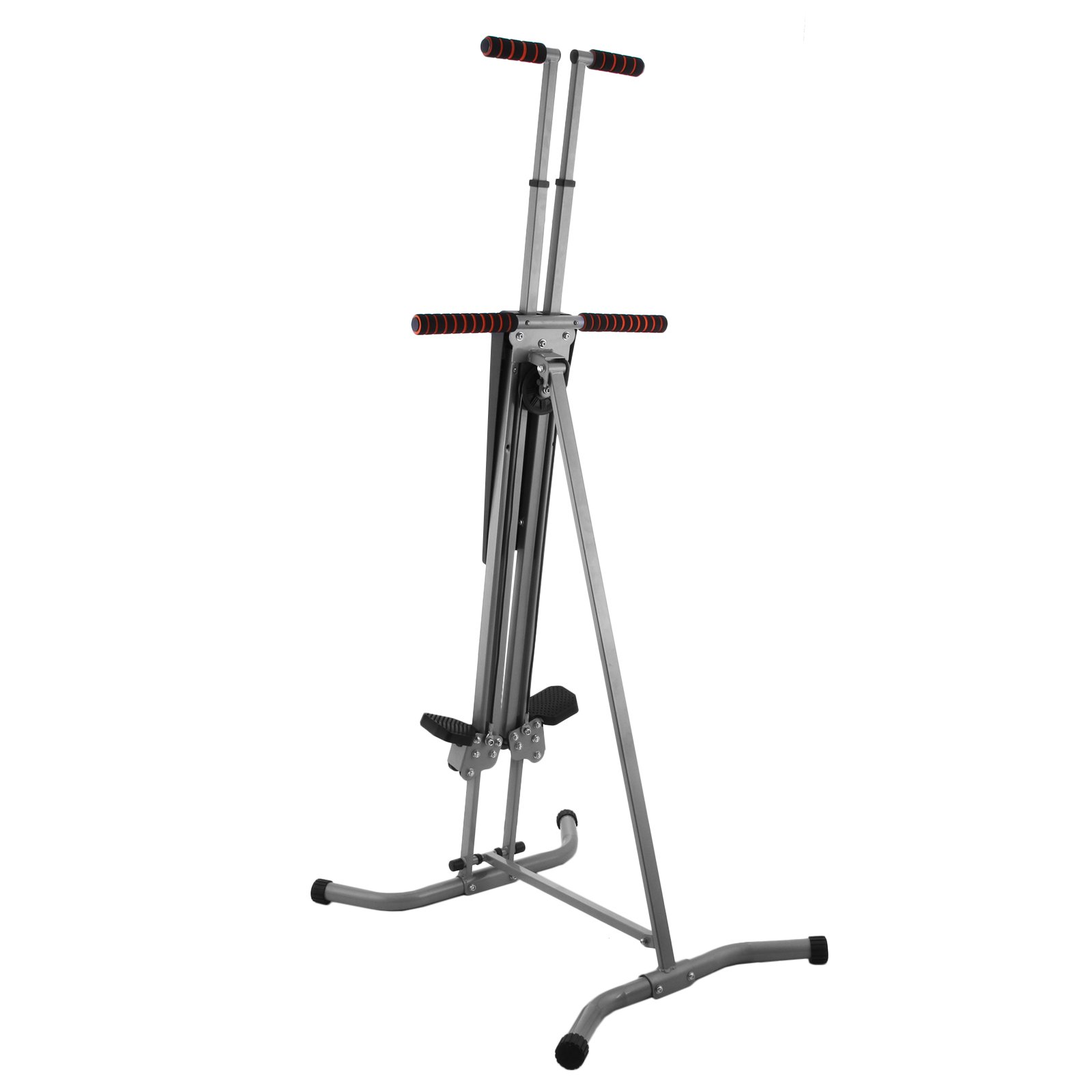 Popsport 440LBS Climber Machine Fitness Stepper Climber Exercise Equipment Vertical Climber for Home Gym Exercise Stepper Cardio Climbing System (P8006,Gray) by Popsport (Image #3)