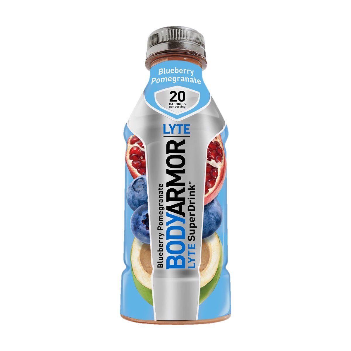 BodyArmor LYTE SuperDrink, Electrolyte Sport Drink, Blueberry Pomegranate, 16 Ounce (Pack of 48)