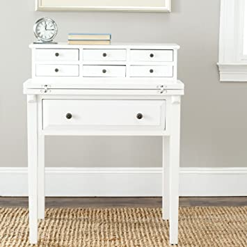 safavieh american homes collection abigail fold down desk white