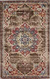 Traditional Persian Rugs Vintage Design Inspired Overdyed Fancy Chocolate Brown 5′ 1 x 8′ FT (155cm x 244cm) St. James Area Rug