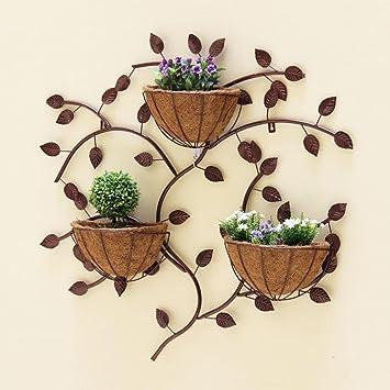 balcon de mur en fer forg cratif suspendus dcoration de mur intrieur de titulaire de pot