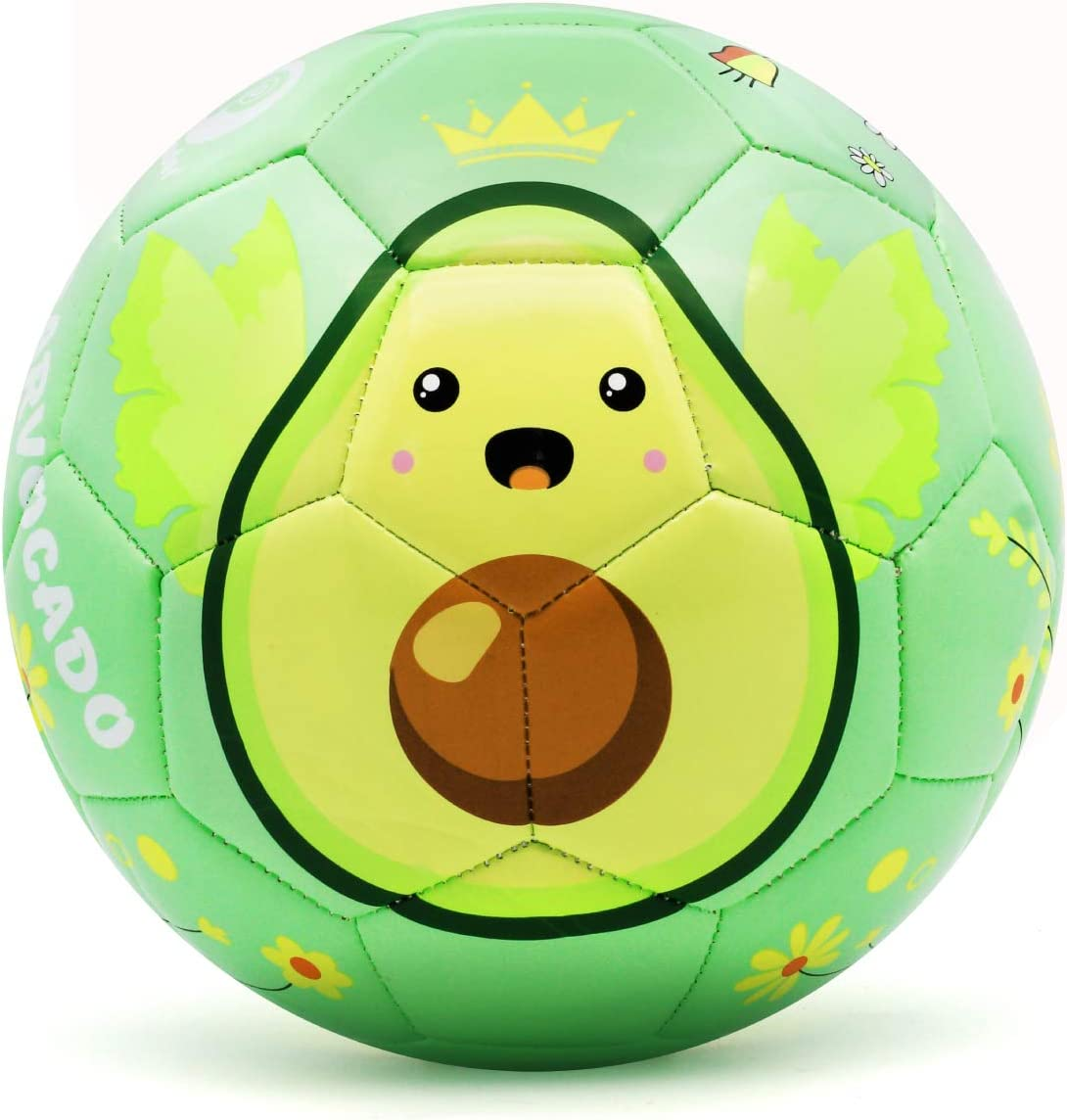 Amazon Com Picador Cute Soft Cartoon Soccer Ball Size 3 For Kids Toddlers Girls Boys Kindergarten Children S Day Shipped Deflated Avocado Sports Outdoors