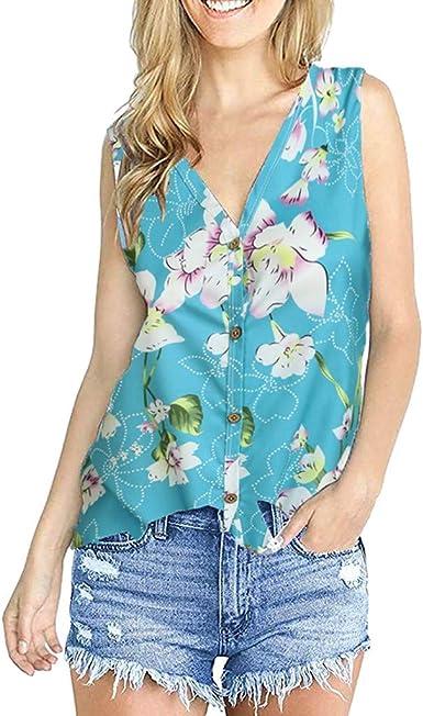 Berimaterry Camiseta Verano Mujer Blusa Moda Camiseta con ...