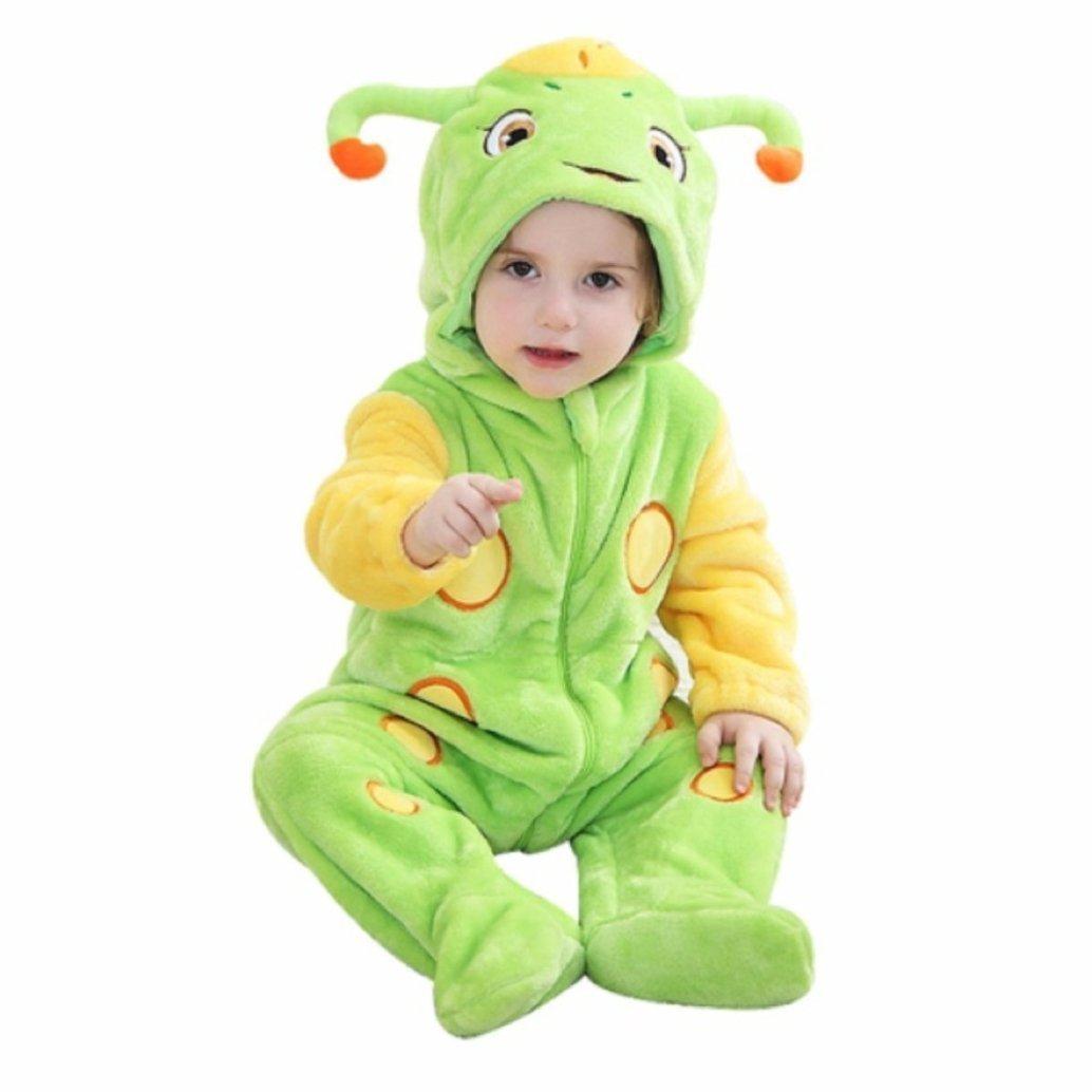 Katara 1778 Onesie B/éb/é Kigurumi Pyjama Combinaison de Nuit Barboteuse Enfant 0-6 Mois Animal Fantastique Rose-Pourpre