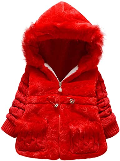 Toddler Kids Baby Girl Winter Jacket Coat Thick Leopard Outwear Hooded Snowsuit
