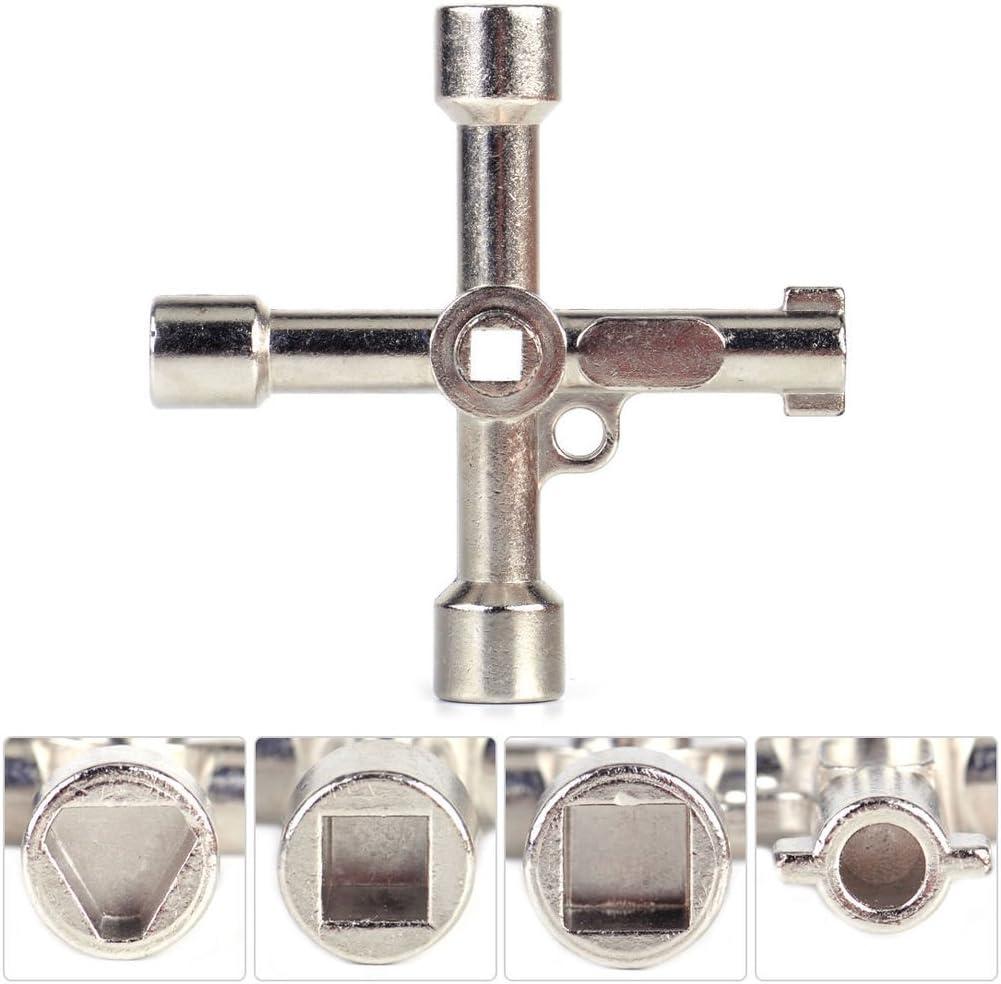 4 Way Utility Multi Cross Key for Gas Electric Door Cupboard Meter Box Radiator