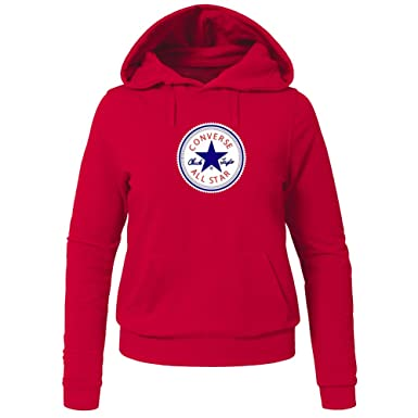 a3699f608200 Converse All Star For Ladies Womens Hoodies Sweatshirts Pullover Outlet   Amazon.co.uk  Clothing