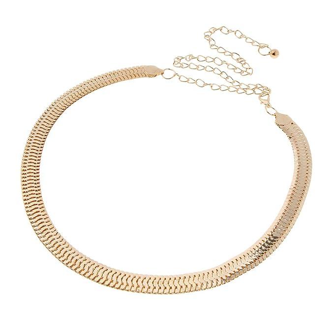 ba87cd6108be22 Baoblaze Damen Metall Gürtel Gold Taillengürtel Hüftgürtel Hüftgurt  Kettengürtel für Kleider