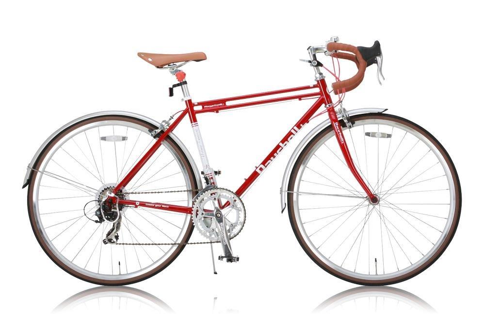 Raychell+(レイチェルプラス) ロードバイク 700C R+718 UrbanTourist クロモリフレーム シマノ14段変速 フレームサイズ520mmコイルワイヤー錠/前後シリコンLEDライト付属 レッド B00SWG27M8
