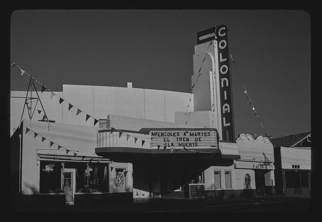 Vintography 8 x 12 BW Photo of: Colonial Theater, Sacramento, California 1980 Roadside America Margolies, John, 28t