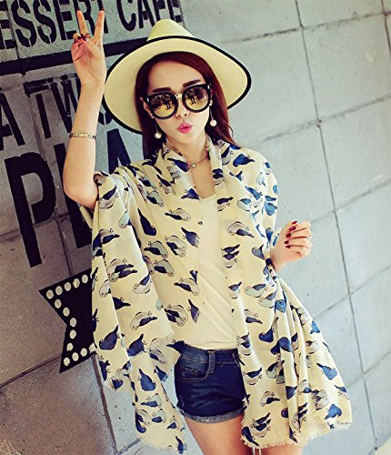 Generic Korean version of the long section parrot scarf shawl women girls lady summer sun cute animal pattern new