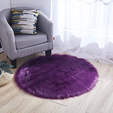 Amazon.com: CHENGXX Australian Imitation Wool Carpet Round ...