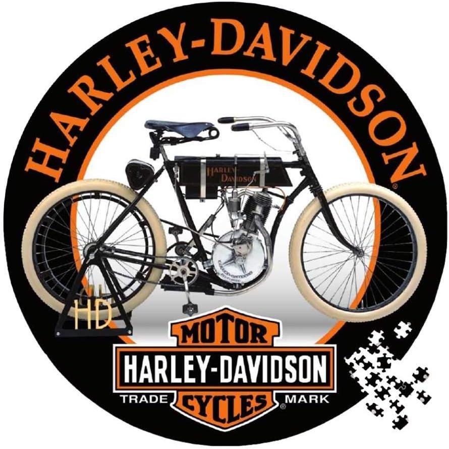 Harley-Davidson Vintage Motorcycle Round Puzzle