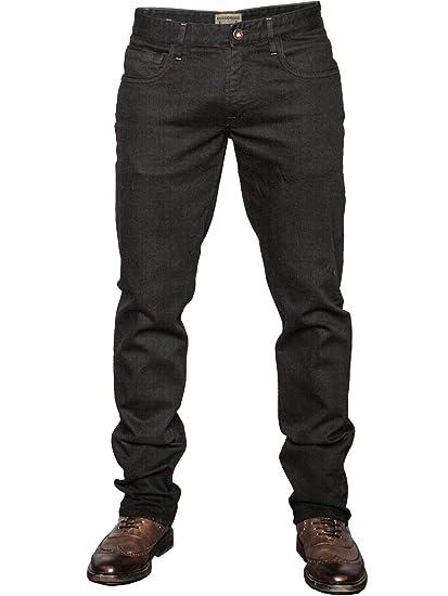 Mish Mash Jeans Bronx Black Straight FIT Hand Finished Jeans Denim (W32  30L)  Amazon.co.uk  Clothing 95f756301b3