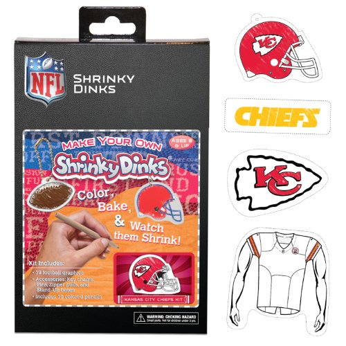 NFL Kansas City Chiefs Ruff N' Ready Shrinky Dinks Plastic Sheets
