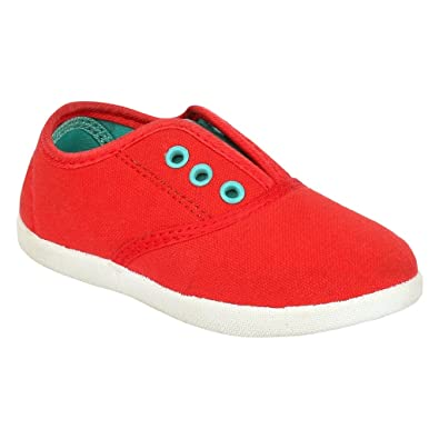 c0db5122 MYAU Kid's Boys Girls Red Solid Canvas Cotton Slip On Casual Shoes: Buy  Online at Low Prices in India - Amazon.in