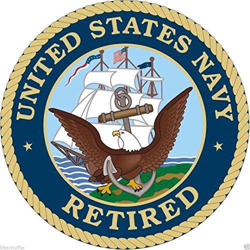 - MFX Design Us Navy Retired Sticker Decal Toolbox Sticker Decal Laptop Sticker Decal Hardhat Sticker Decal Vinyl - Made in USA 3 Round