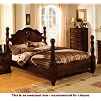 247SHOPATHOME Idf-7571CK Bed-Frames, California King, Walnut