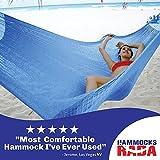 Hammocks Rada- Handmade Yucatan Hammock - Matrimonial Size Dark Blue Color - True Comfort, True Quality, World's Best Handmade Hammock- 100% No-Hassle Satisfaction Guarantee