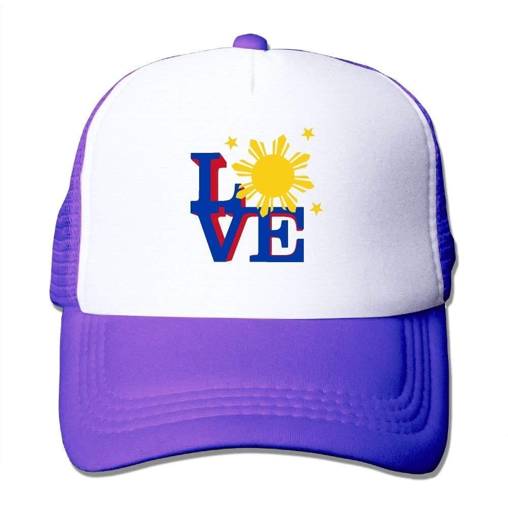 JTRVW Cowboy Hats Adjustable Mesh Hat Two Tone Trucker Hat Philippines Sun Love