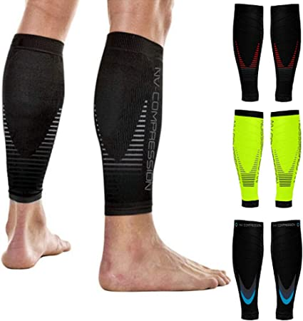 2 PAIRS Compression Sleeve Calf Strains For Shin Splints Sports Recovery