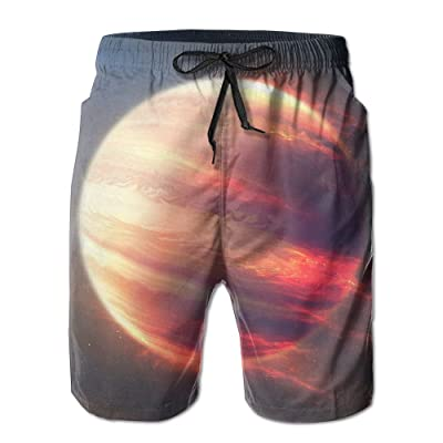 Jupiter Planets Galaxy Nebula UniverseHandsome Fashion Summer Cool Shorts Swimming Trunks Beachwear Beach Shorts