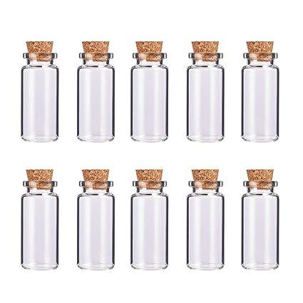 BENECREAT 36 Pack 12ml Botella de Vidrio Transparente con Corcho para Manuaildad de Artesanía Decoración de