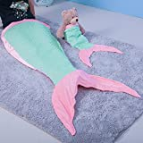 Note: Please wash before use.This mermaid blanket can be machine washed at a low temperature and tumble dried. We recommend that you do not wash the blanket with items containing zippers that might snag.