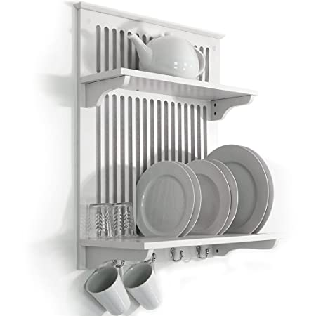 NOVEL - Kitchen Plate Bowl Cup Display / Wall Rack - White  sc 1 st  Amazon UK & NOVEL - Kitchen Plate Bowl Cup Display / Wall Rack - White: Amazon ...