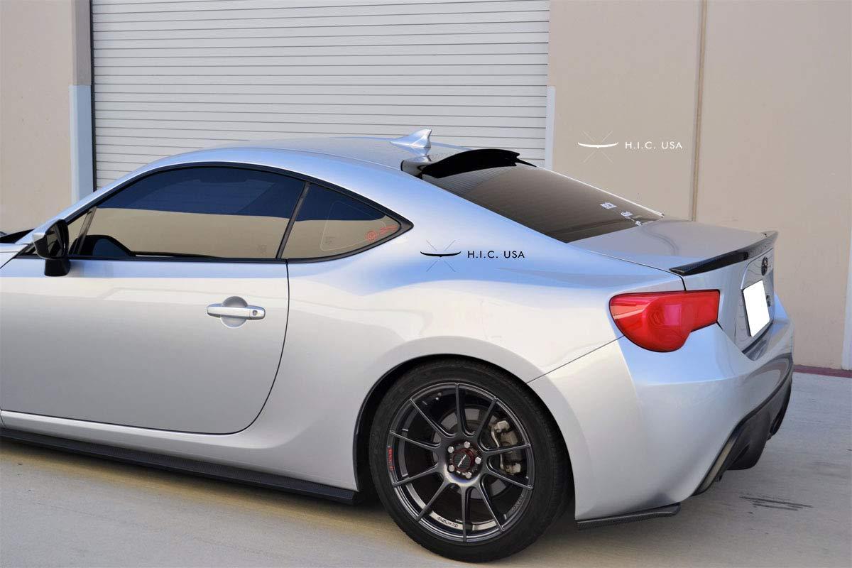 HIC USA 2013 to 2019 FRS BRZ GT86 2 Door Rear Visor Matte Black