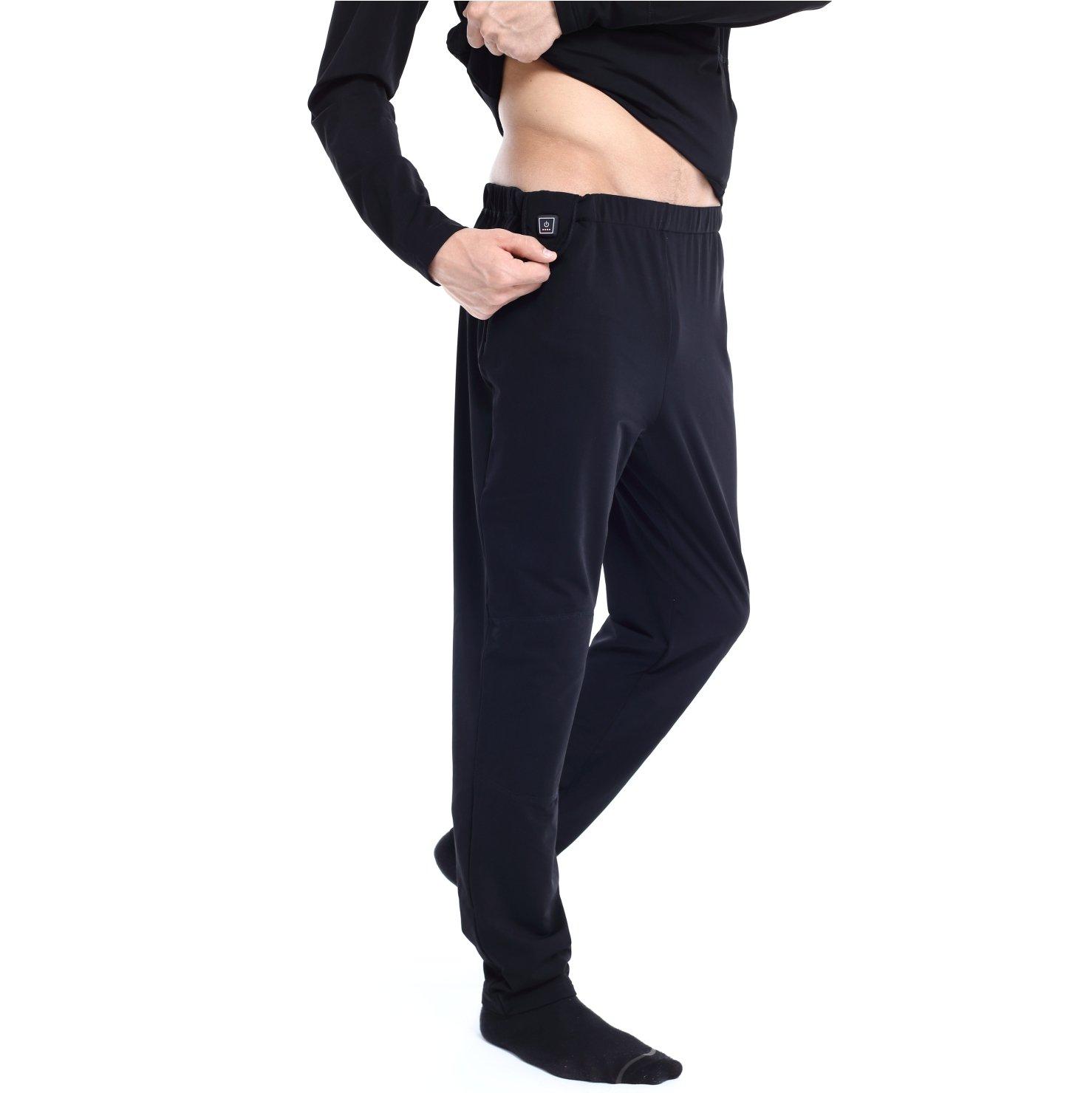 Glovii Akku Beheizte Hosen, Technische Bekleidung Thermoactive Unterwäsche, Größen: M, L, XL