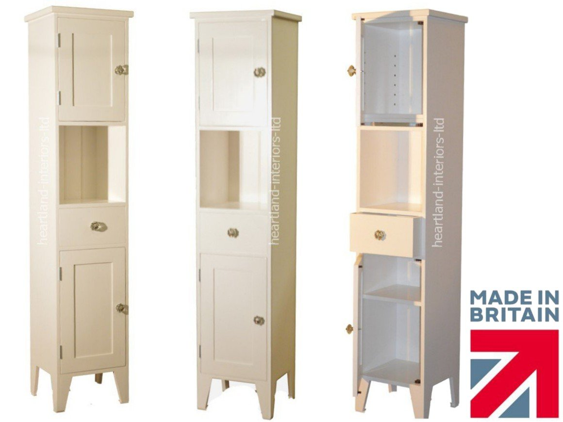 100% Solid Wood Bathroom Cabinet, Handcrafted & Painted\