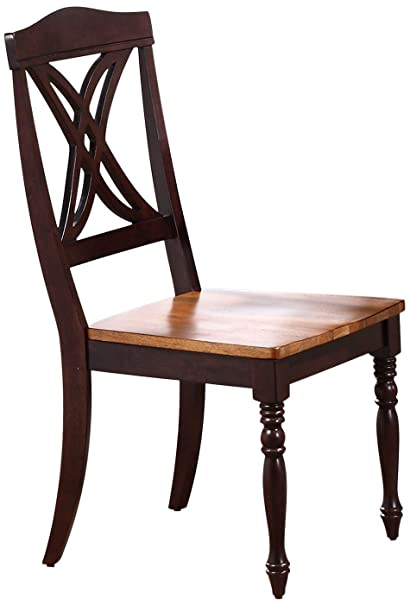 Iconic Furniture Butterfly Back Dining Chair, Whiskey Mocha Finish SET OF 2