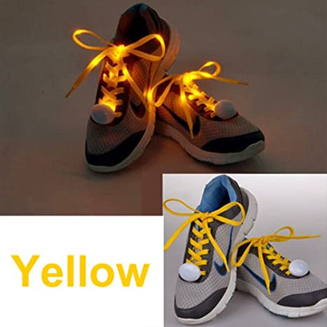 e87d06fe9fe2 Free Ship Sport Luminous Shoelace Glow in The Dark Night Color Fluorescent  Shoelace Athletic Sport Flat Shoe Laces Hot Selling  Amazon.in  Home    Kitchen