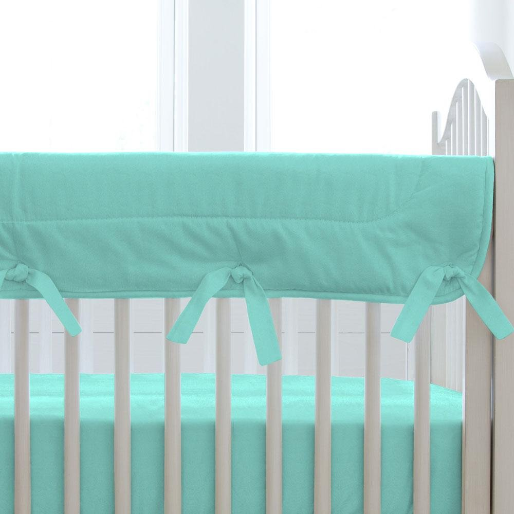 Carousel Designs Solid Teal Crib Rail Cover by Carousel Designs
