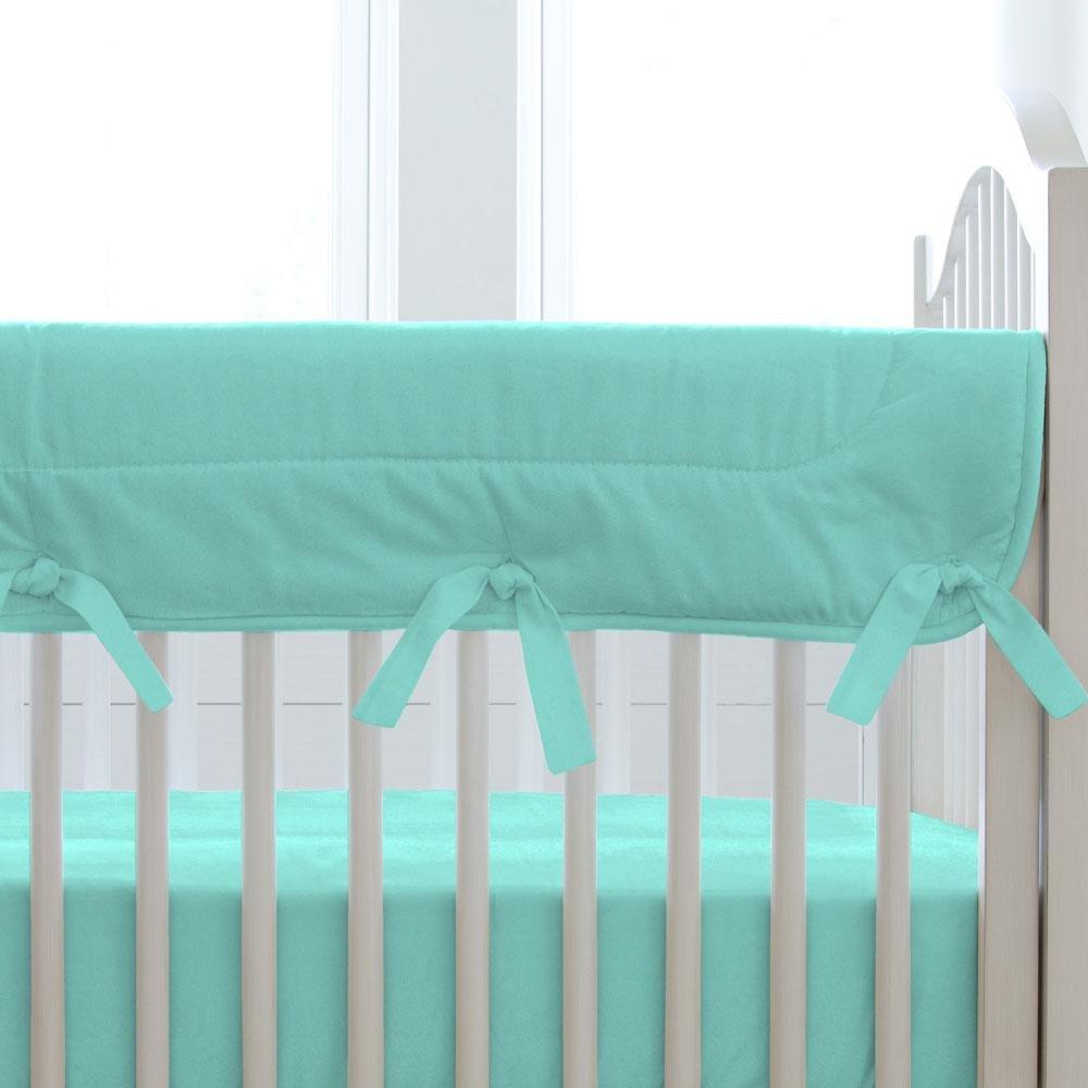 Carousel Designs Solid Teal Crib Rail Cover