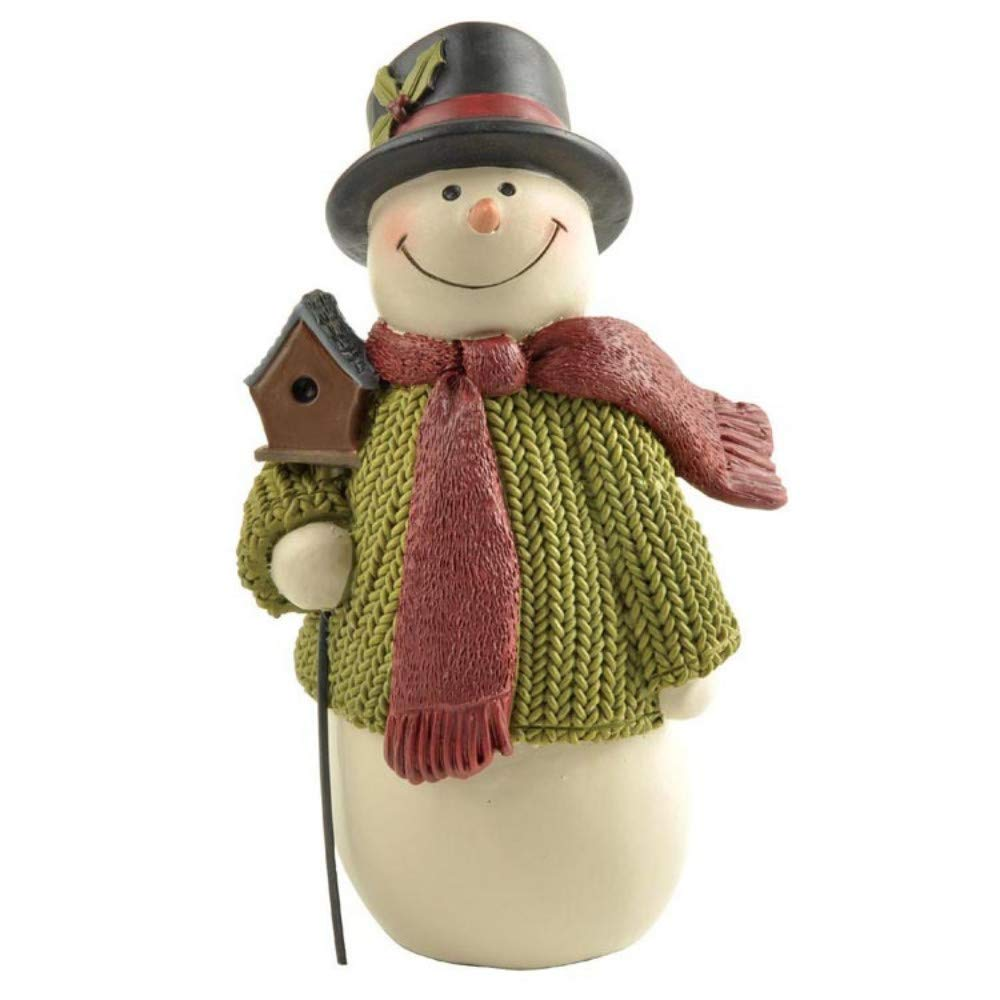 JIAHUADE Creative American Country Resin Crafts Home Accessories Living Room Decoration Gift Christmas Day Snowman Decoration