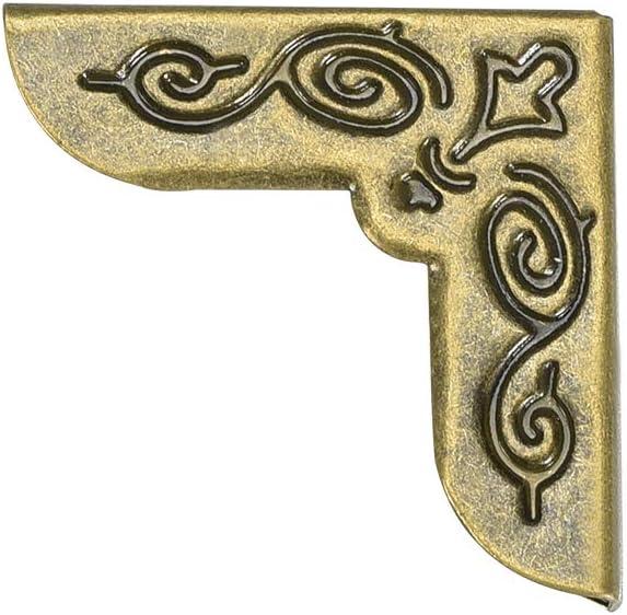 sourcing map Metal Book Corner Protectors Edge Cover Guard 21 X 21 X 5mm Bronze Tone 50pcs