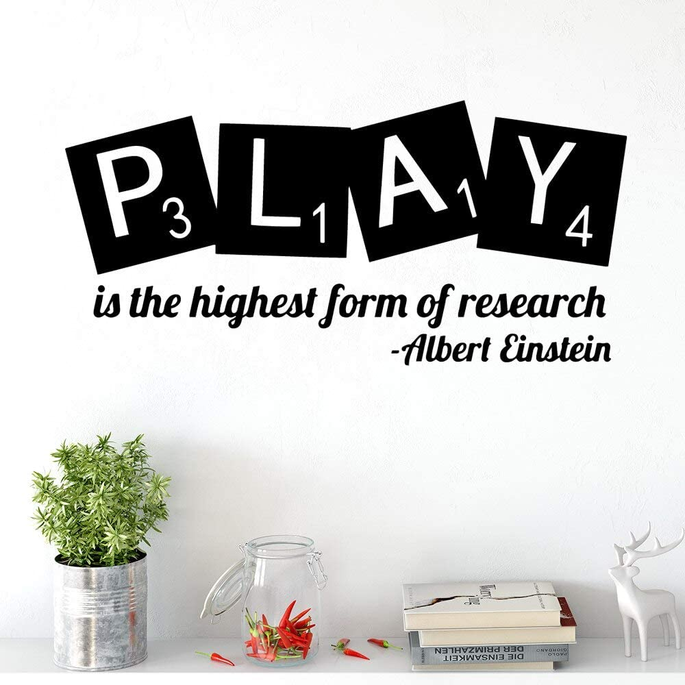 Ajcwhml Einstein Quotes Play Wall Art Applique Vinilo Adhesivos de ...