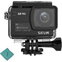 SJCAM SJ8 PRO - Cámara de acción 4 K/60FPS WiFi para deportes (pantalla táctil de 2,3 pulgadas, lente gran angular de 170°, zoom digital EIS 8X, cámara impermeable, color negro