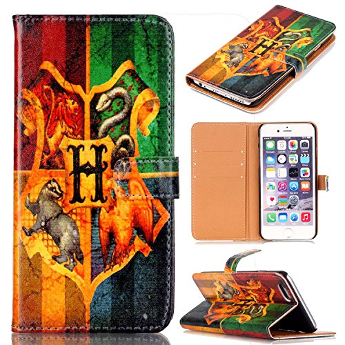 Unique Hogwarts Badge Pattern Slim Wallet Card Flip Stand PU Leather Pouch Case Cover For Apple iphone 5 5S iphone SE New Arrival - Cool as Great Gift