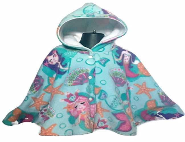 Mermaid Baby Or Toddler Fleece Car Seat Poncho