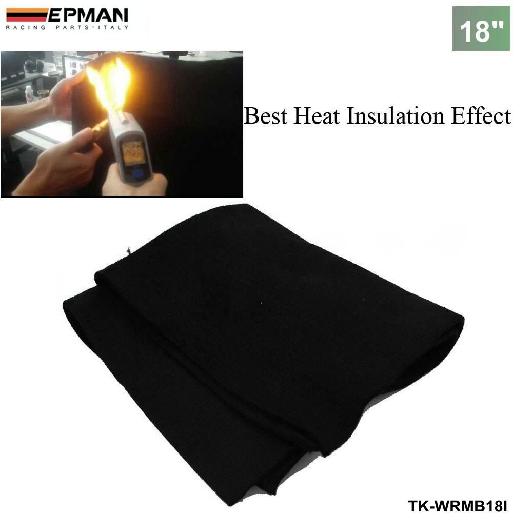 EPMAN Auto Carbon Fiber Welding Blanket torch shield plumbing heat sink slag fire felt 18''x18'' x1/4 (Black)