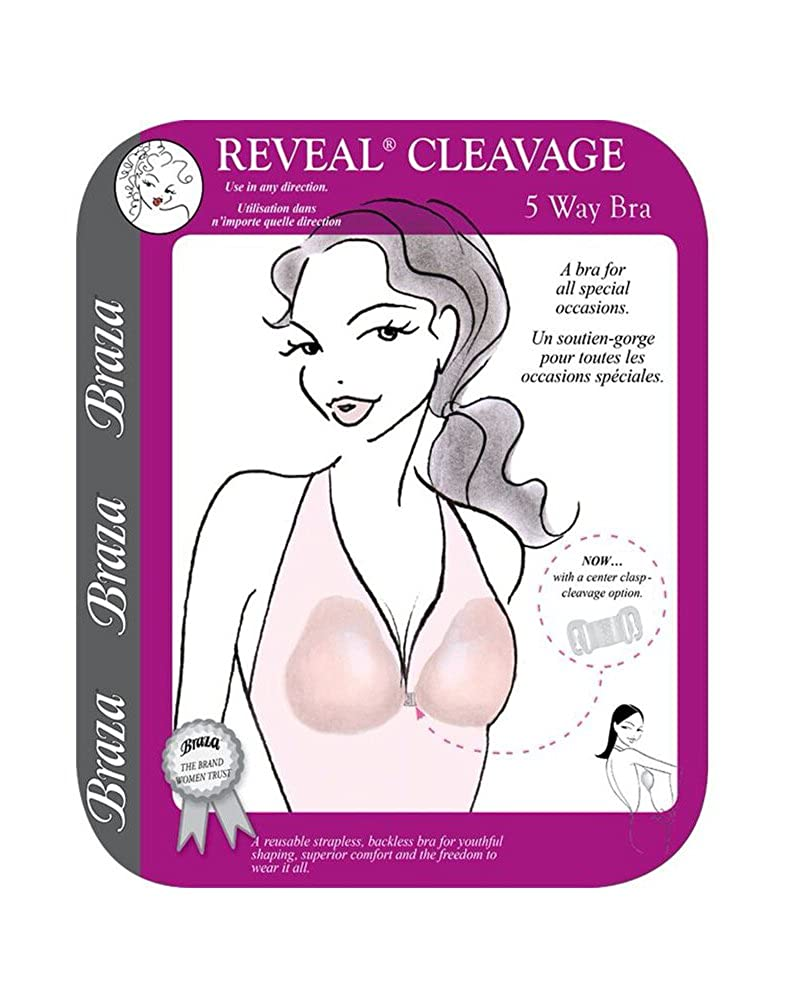 3013d2b4d8a1f Braza Reveal Cleavage Strapless Bra - Size A -78200 at Amazon Women s  Clothing store