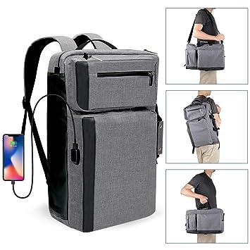 FKANT Mochila para Ordenador Portátil 17,3 Pulgadas con Puerto de Carga USB Mochila de Negocios Multifuncional Bolsa Bandolera Mochila Hombre para Viaje ...