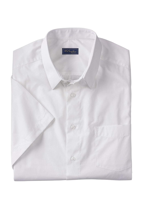Kingsize Signature Collection Mens Big /& Tall Kingsize Signature Collection No Hassle Short-Sleeve Dress Shirt