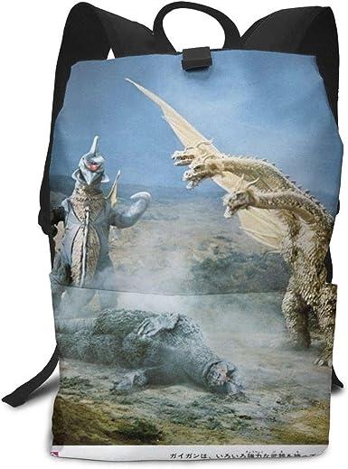 Kids Student 15Inch School Bag Laptop Backpack,Godzilla Final Wars Poster Print Casual Custom Lightweight Large Capacity Bookbags Daypack Shoulder Bag for Boys Girls