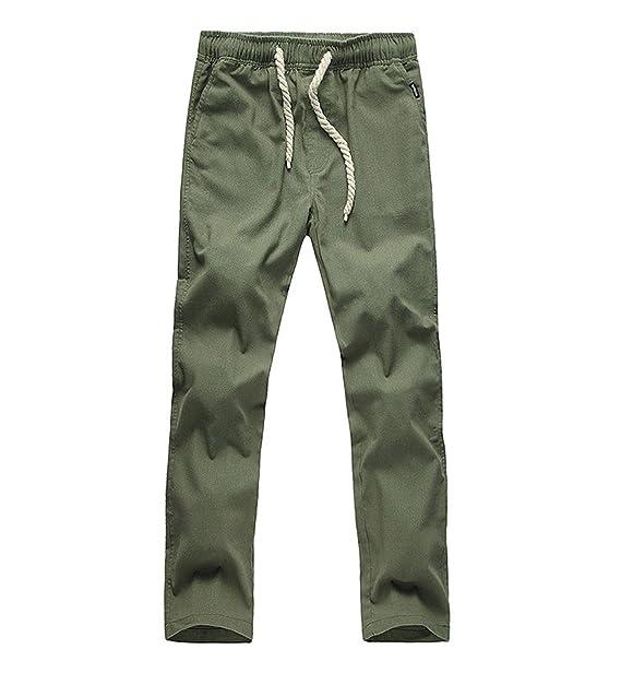 Surenow Pantalones de Lino para Hombre Cómodo Largo Cintura Elástica Casual: Amazon.es: Ropa y accesorios