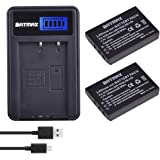 Batmax 2x 2400mAh KLIC-5001 Li-ion Battery + LCD USB Charger for Kodak Easyshare P712 P850 P880 Z730 Z760 Z7590 DX6490…